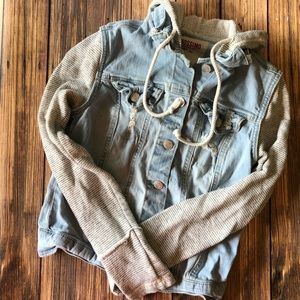 Mossimo Hooded Jean Jacket XS